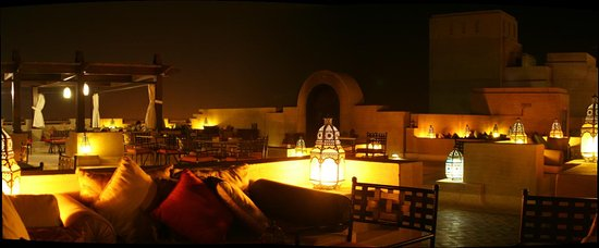 Bab Al Shams Desert Resort & Spa: Lounge sur le toit