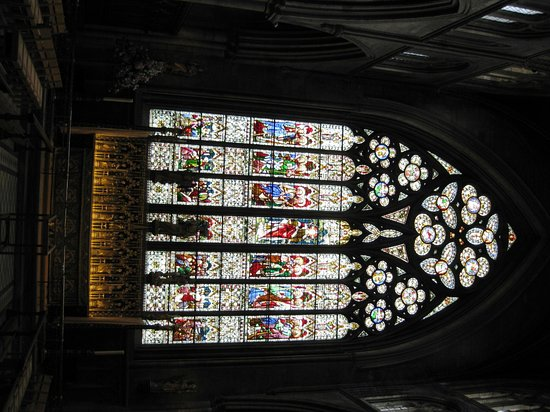 Ripon, UK: One of the stained glass windows.