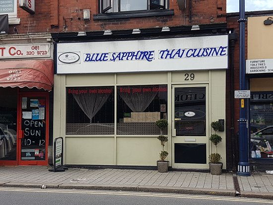 Blue Sapphire: On the main road through Denton, easy to find at Crown Point