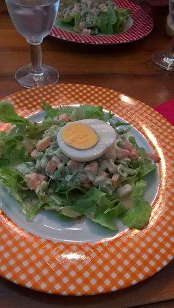 Dieulefit, Frankrig: salade macédoine