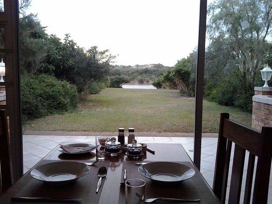 Colchester, Zuid-Afrika: Vistas desde el lugar de desayuno.