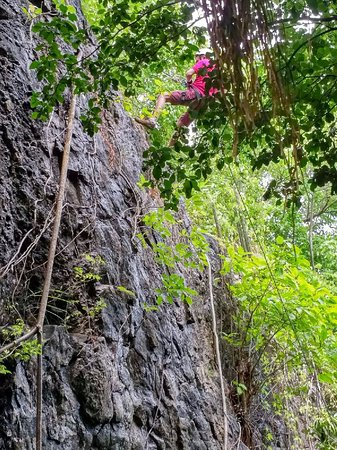 Cap Estate, St. Lucia: Abseiling off Pigeon Island
