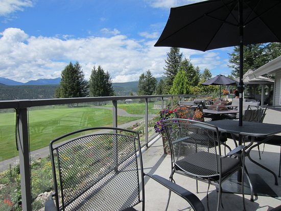 The Springs Course: View from the deck at Springs Course, Radium