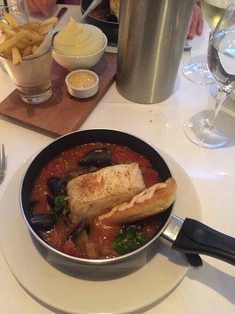 Дангарван, Ирландия: Cod, bouillabaisse etc from the Tannery Restaurant