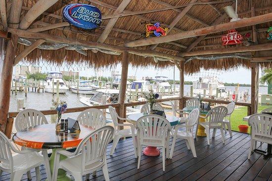 Jensen Beach, FL: View from the open air Tiki Hut