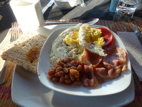 Ghanzi, Botsuana: breakfast