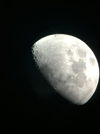 Four Seasons Resort and Residences Jackson Hole: Moon from the telescope during our star gazing