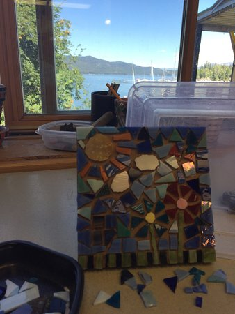 McCall, ID: Fun store, lots of neat items and a workshop in the back to create your own mosaic.  Very friend