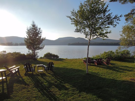 Blue Mountain Lake, NY: View from front lawn.