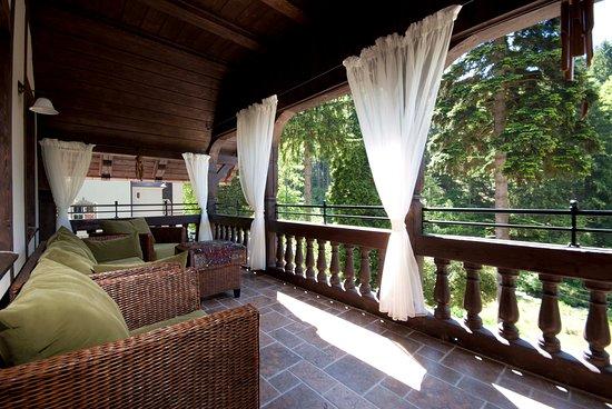 Miedzygorze, بولندا: Villa Titina, taras