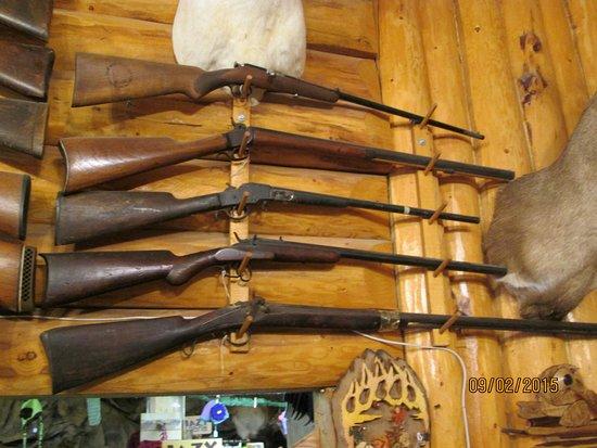 Delta Junction, AK: Very nice display of firearms
