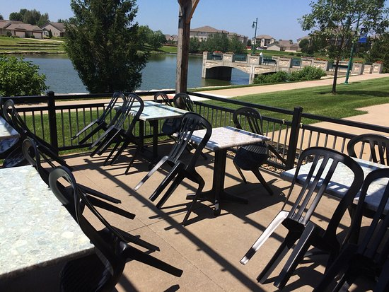 North Liberty, IA : Patio in the back