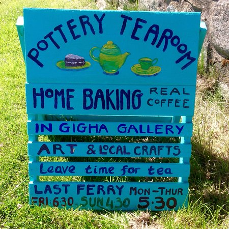 Gigha Gallery: A welcome sign on beautiful Gigha. Don't miss it!