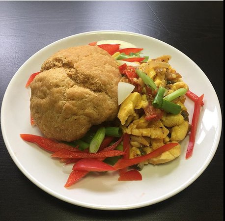 Greater London, UK: Our breakfast option of Ackee and Salt Fish