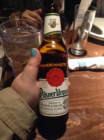 Old Chicago: Beer that I drank when in the Czech Republic right here in CO!