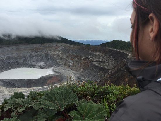 Poas Volcano National Park, Kosta Rika: clouds cleared!!