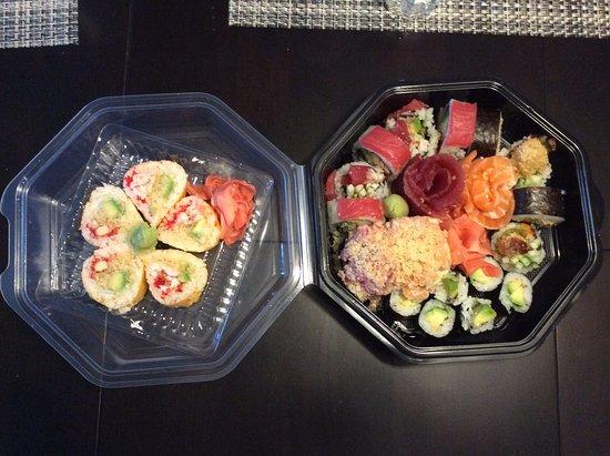 Vaudreuil-Dorion, Canada: Maki, sashimi et nigiri