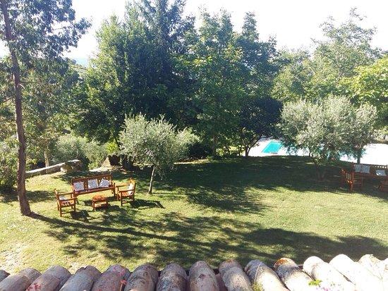 Agriturismo La Corte del Lupo: Il meraviglioso panorama dalla terrazza della nostra stanza