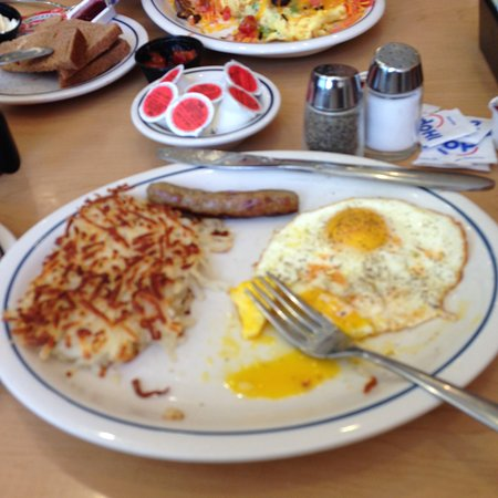 IHOP: Simple but always good-eggs, sausages and hash brown