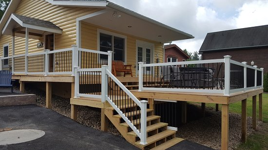 McHenry, Maryland: Back deck of lakeside cabin 5