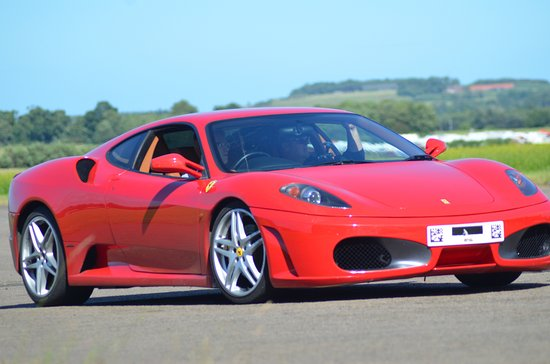 East Lothian, UK: Ferrari Red........