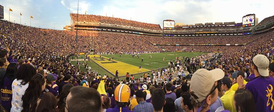 LSU Tiger Stadium: The view from the Student Section of Tiger Stadium