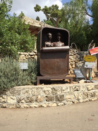 One of the many sculptures in Ein Hod