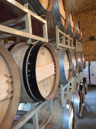 Lutsen, MN: Wine barrels and Kim's blend hard cider