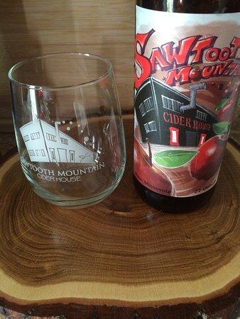Lutsen, MN: Wine barrels and Kim's blend hard cider