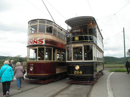 Beamish, UK: Antique transport was fun to get around in.