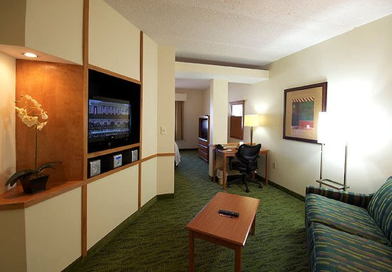 Hickory, Carolina del Norte: King Suite Living Area