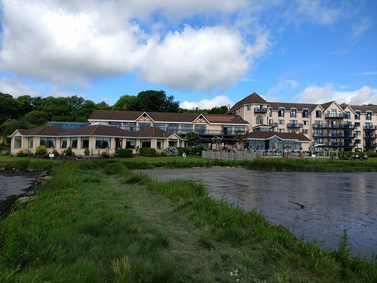 Ferrycarrig, Irlanda: View of the hotel from the garden/river