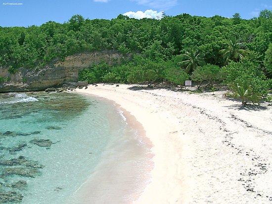Anse-Bertrand, Guadeloupe: Le Nord de la plage, vue d'un drone.
