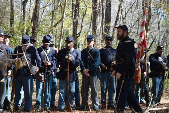 Natural Bridge Battlefield Historic State Park: Photo from the 2016 reenactment.