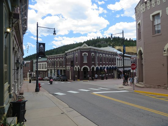 Central City, CO: The Century is the brown building on the corner