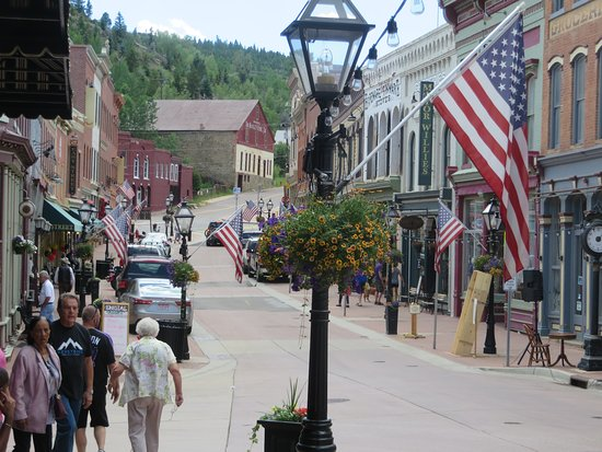 Central City, CO: Main St., directly in front of the hotel