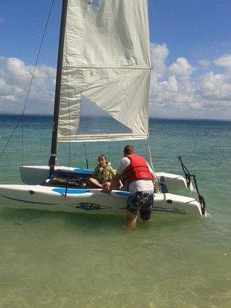 Toberua Island, Fiji: water fun
