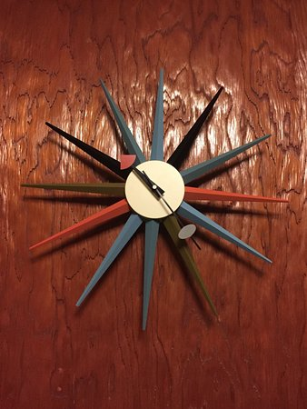 Village Inn At Apgar: 50' clock inside our room.