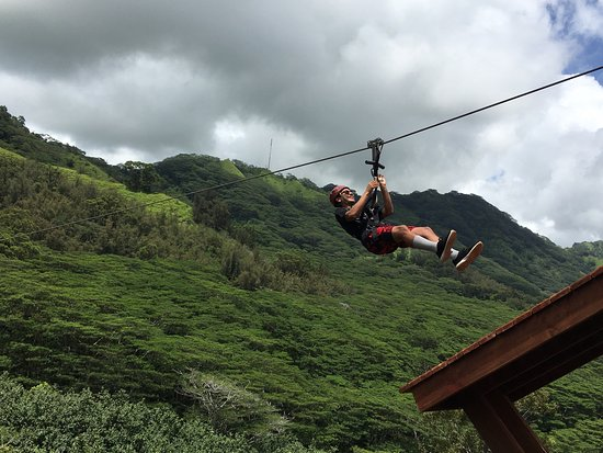 Killer time with my soon to be 18 year old son! Ziplining is a must and Koloa does a great job w