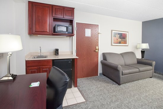 Carol Stream, IL: Two Room King Suite living area