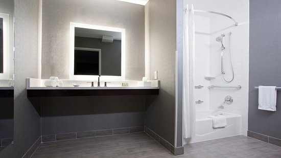Weirton, WV: Modern, refreshed and accessible guest bathroom in our King Suite