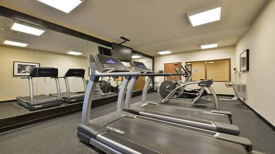 Milford, MA: Our fitness center features different types of equipment.