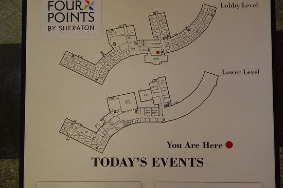 Four Points by Sheraton Wakefield Boston Hotel & Conference Center: Hotel map
