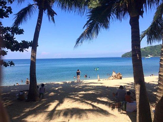 Pebble Beach: View from beach hut
