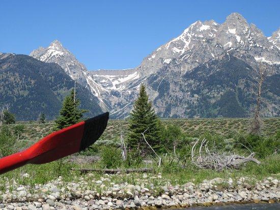 National Parks Float Trips: Grand Tetons closeup.