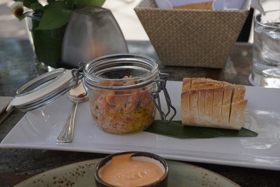House Without a Key: Salmon tartare with crostini appetizer