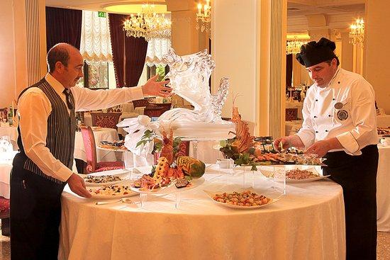 Abano Terme, Italien: Restaurant at Grand Hotel Terme Trieste & Victoria