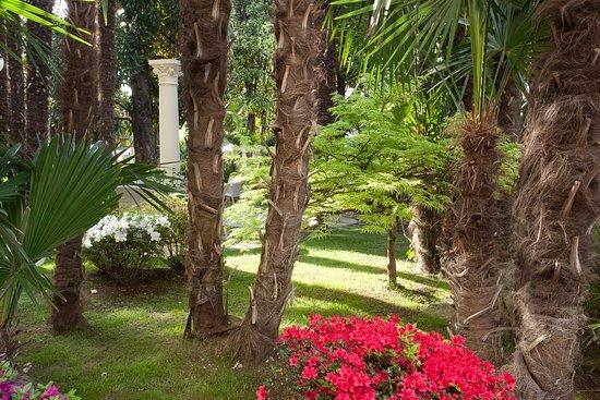 Abano Terme, Włochy: Park at Grand Hotel Terme Trieste & Victoria
