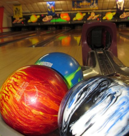 Sublette, KS: Bowling Balls on the ball return