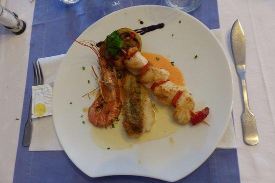 La Bree-les-Bains, Frankrig: assiette gambas et lotte et cabillaud